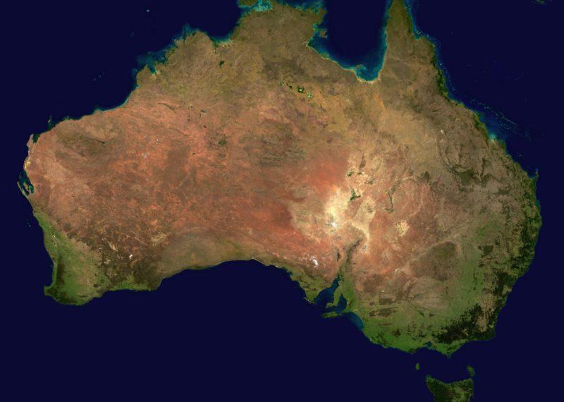 Australia satellite view