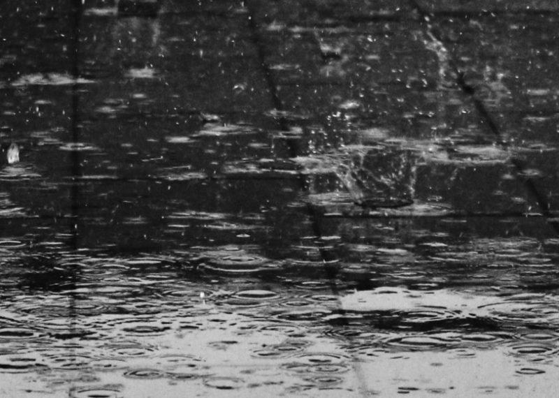 raindrops on the floor