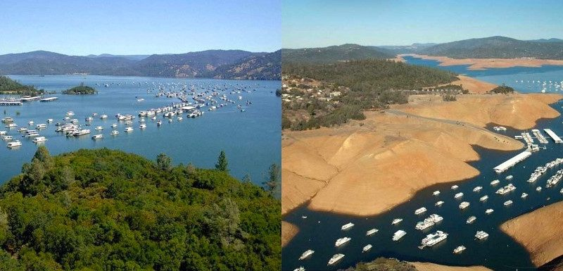 lake oroville before and after