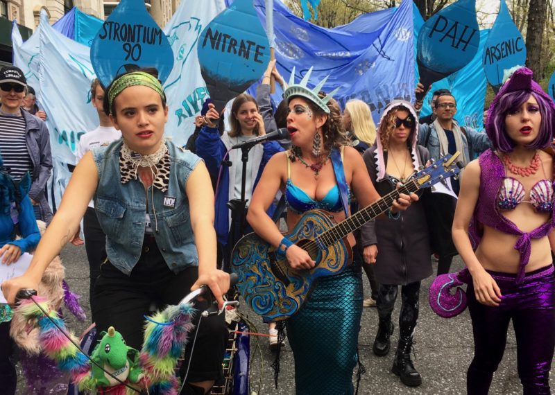 The Liberty Singers join the March for Science protests