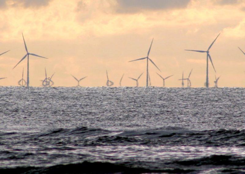 wind tower in the ocean