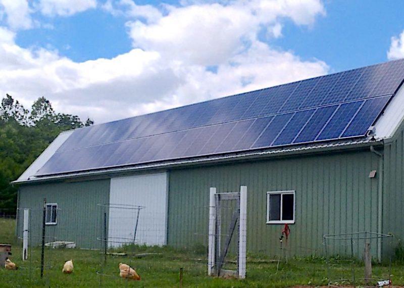 Indiana farm with solar panels