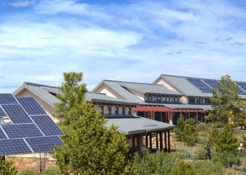 Solar panels power this visitor center at Grand Canyon National Park