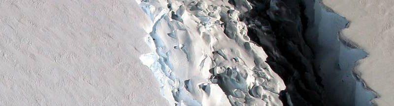 A rift in the Antarctic Peninsula's Larsen C ice shelf.