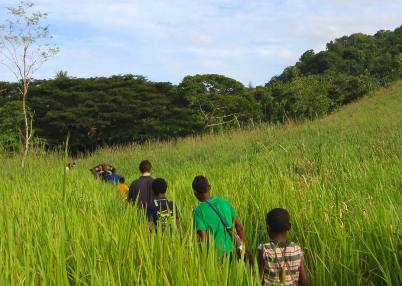 boys walking in Papa New Guinea
