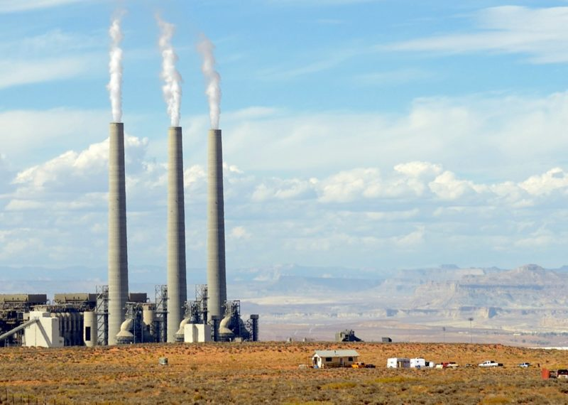 Navajo generating station, Arizona, cloudy day