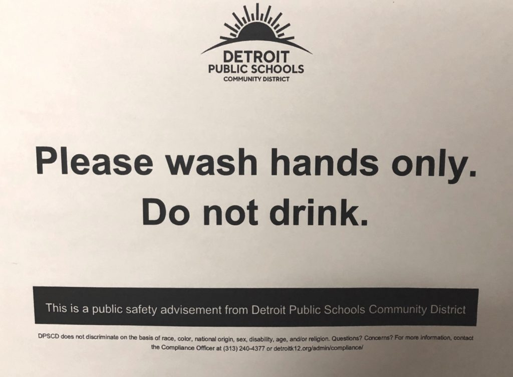 sign about washing hands