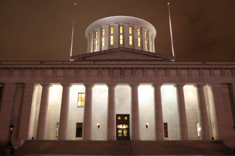 The state capitol building in Columbus where a nuclear and coal bailout passed