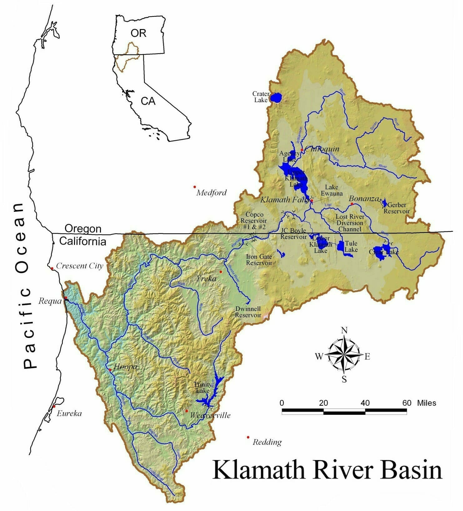 Map of Klamath River Basin