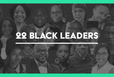 a collage of black climate leaders