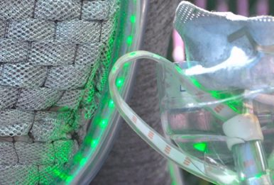 clear mask for green neon lights