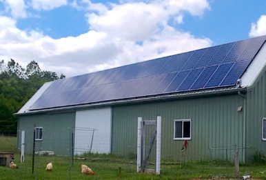 Indiana farm with solar panels