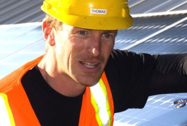 Solar worker: Thomas