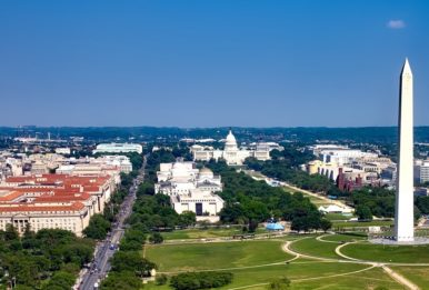 aereal view Washington Monument