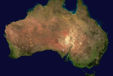 Australia satellite view