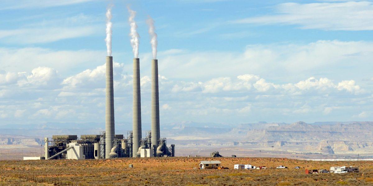 Navajo generating station, Arizona, cloudy day
