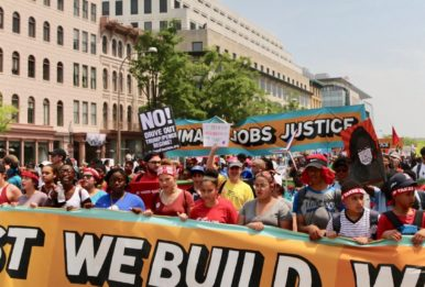 climate march, we resist we build we rise