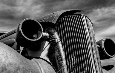 abandoned classic car