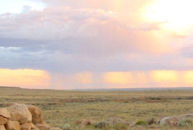 sunset in Arizona camp