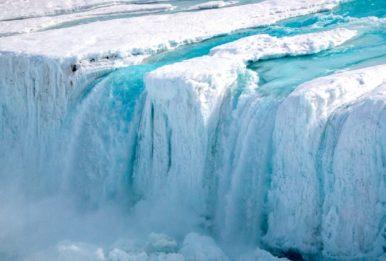 The Nansen Ice Shelf in Antarctica