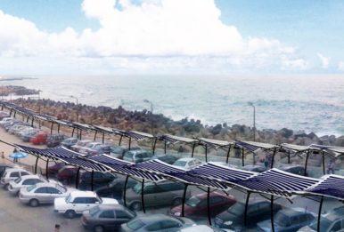 The Solar Fabric Carport in the shore