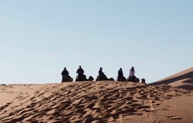 people in Sahara Desert