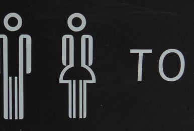 black toilet sign