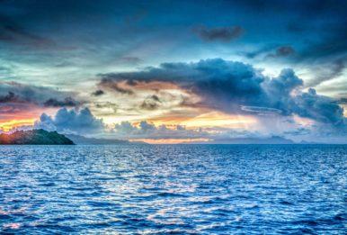 beautiful sky in the ocean