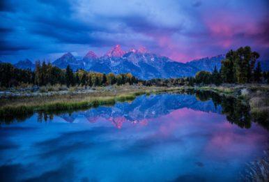 Teton Range rises