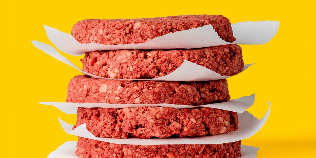 meat cakes, yellow background