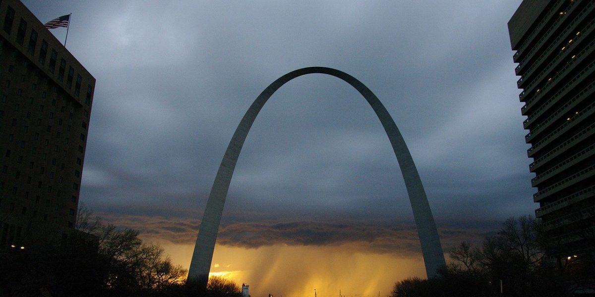 The Gateway Arch, St Louis, Missouri.