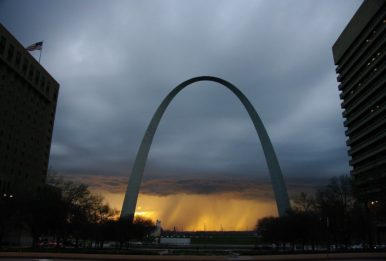 The Gateway Arch, St Louis, Missouri.