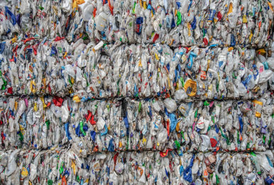 Plastic bales at Greenstar Recycling, which used to sell plastic to China before Beijing sharply curbed imports of plastic waste over environmental concerns. CREDIT: Teake Zuidema/Nexus Media News