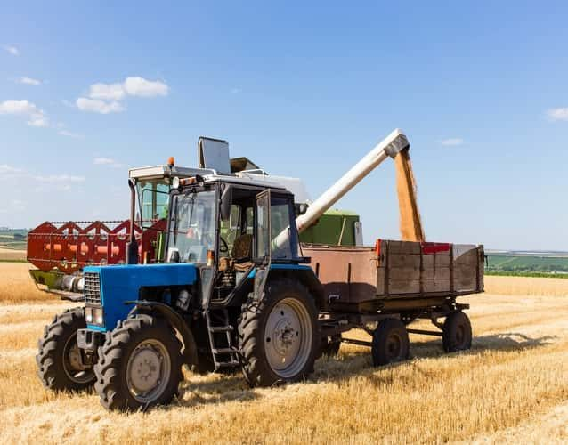 Tractor ready to harvest