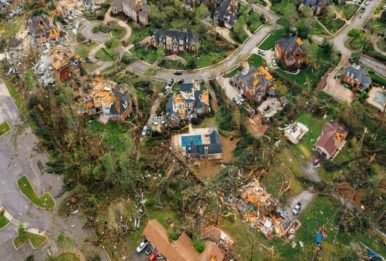 Destruct homes arial view
