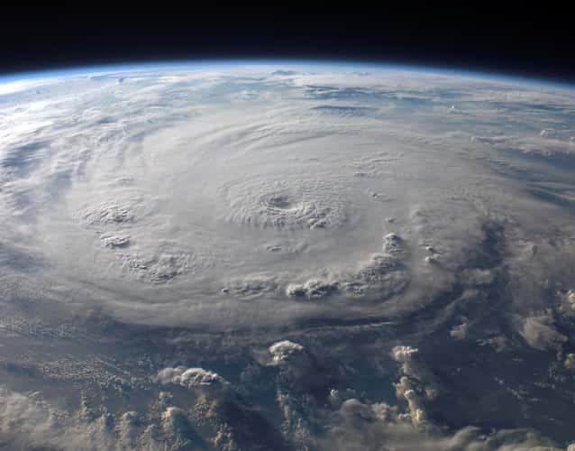 huge hurricane view from space
