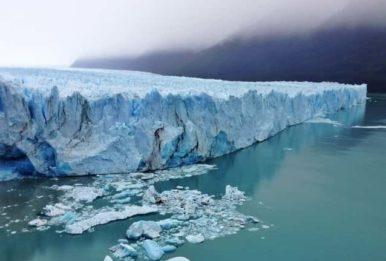 Ice Glacier sheer wall