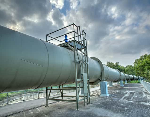 big pipeline closeup image
