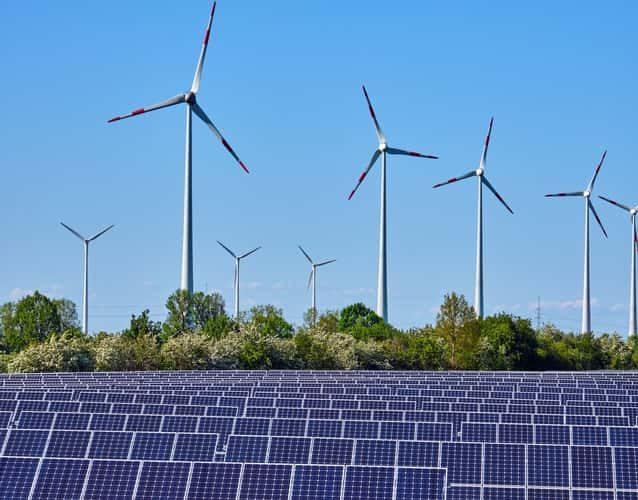 multi wind turbines and solar