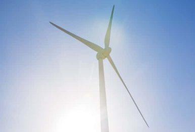 wind turbine view from below