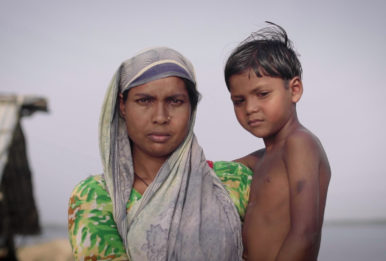 Nurnahar and her daughter. Credit: Environmental Justice Foundation