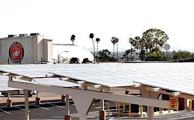 A solar installation at Marine Corps Air Station Miramar in San Diego, California. Source: NREL