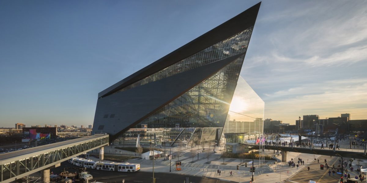 The new U.S. Bank Stadium. Source: Nic Lehoux