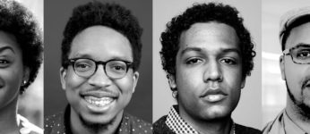Black and white portraits of 4 young black climate reporters