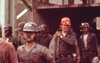 Workers at a mine near Richlands, Virginia, 1974. Source:Jack Corn