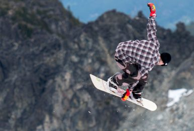 A snowboarder at Camp of Champions, 2016. Source: Camp of Champions