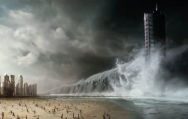 A shot from Geostorm. Source: Warner Bros.