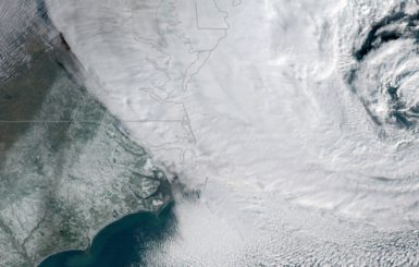 """The """"bomb cyclone"""" that hit the Northeast this week. Source:NOAA"""