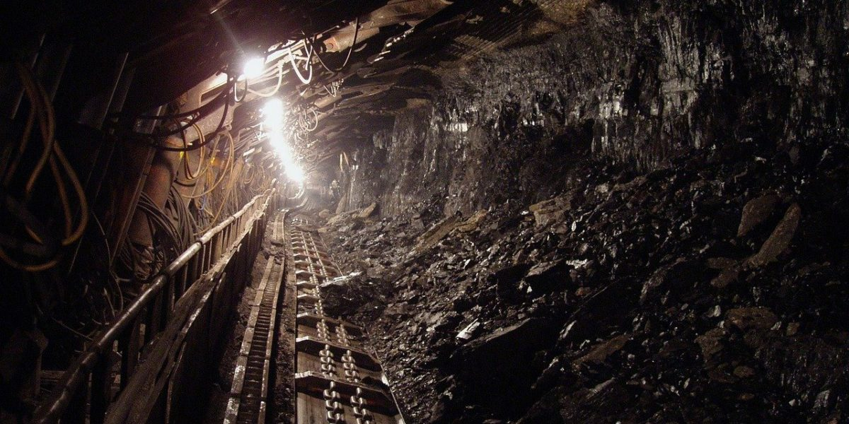 Interior of a coal mine.