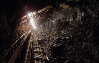 Interior of a coal mine.